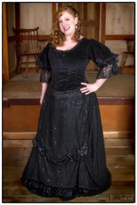 1890's dress at the Steampunk Christmas Carol Fezziwig's Party.  Photo by Jim Jordan