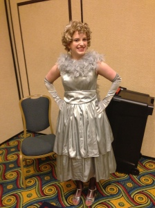 G in her Weeping Angels outfit (with Crawley Family Tiara)