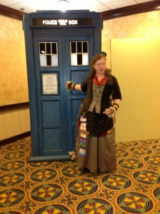 Hey! My bustle is stuck in the Tardis!