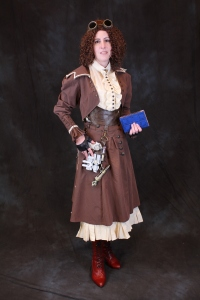 Steampunk River Song as made by Alisa Kester at Dragonfly Designs by Alisa.  Photo by Scott Sebring