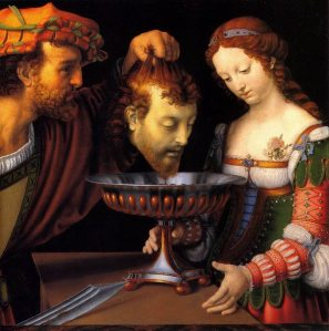 Salome with the head of John the Baptist, 16th century, Andrea Solario.  Kunsthistorisches Museum