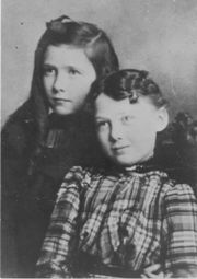 """Maud Hart Lovelace and her best friend """"Bick.""""  Copyright Betsy Tacy Society."""