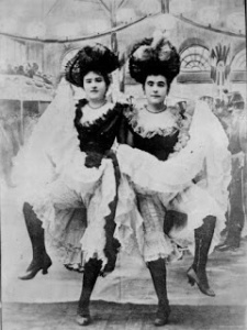 1880s cancan girls from the Moulin Rouge,  Photograph, private collection.