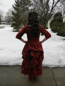 Back of the bustle.