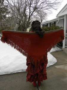 A very large shawl.