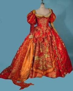 c. 1986 JUNE ANDERSON Stage Worn Opera Gown with Original Massive Slip.