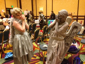 Weeping Angels creeping each other out.