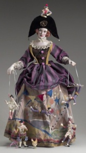 Circus Panniere ~ by Nancy Wilson - limited edition doll, Oil painted paper clay