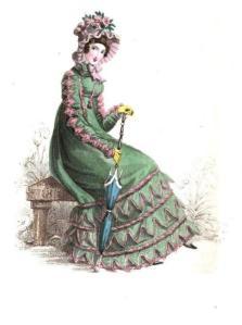 La Belle Assemblee, June 1820.  Morning Visiting Dress.