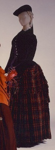 1888 British Plaid Wool Dress, Met Museum.