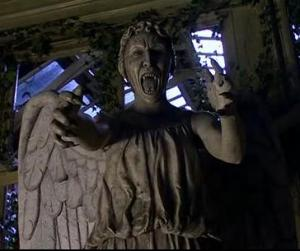 DON'T BLINK!  Weeping Angel from Doctor Who.  Copyright BBC TV