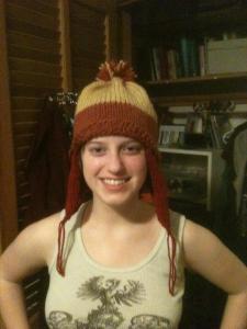 G in her cunning hat.