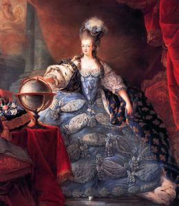 Marie Antoinette by Dagoty.  Versailles Palace, France.