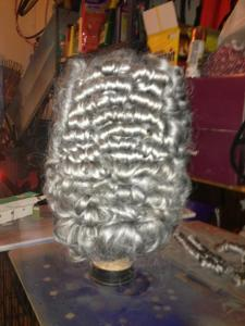 Finished back of wig.