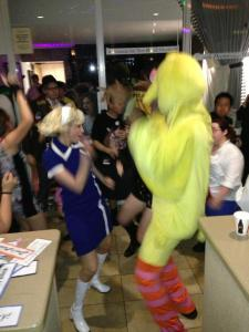 The Cheap Chick and Big Bird get DOWN.