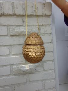 Finished Dragon Egg purse.