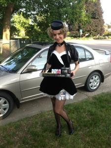 Your MNSOC President as a Steampunk Cigarette Girl.