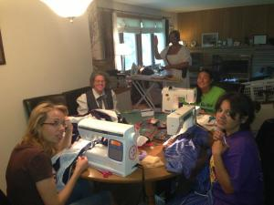 Just keep sewing....