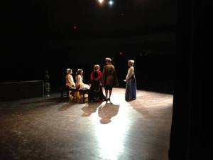 "Rehearsal for ""Much Ado."""