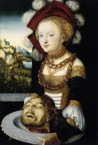 Salome/Judith by Lucas Cranach.