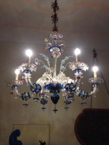 Murano glass chandeliers in the Palace.
