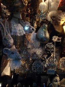 The most sparkle filled mask shop in Venice.