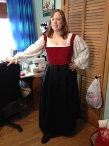 Underbodice and petticoat.