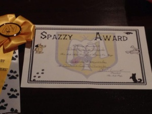 The Spazzy Award, now with brand new ribbon!